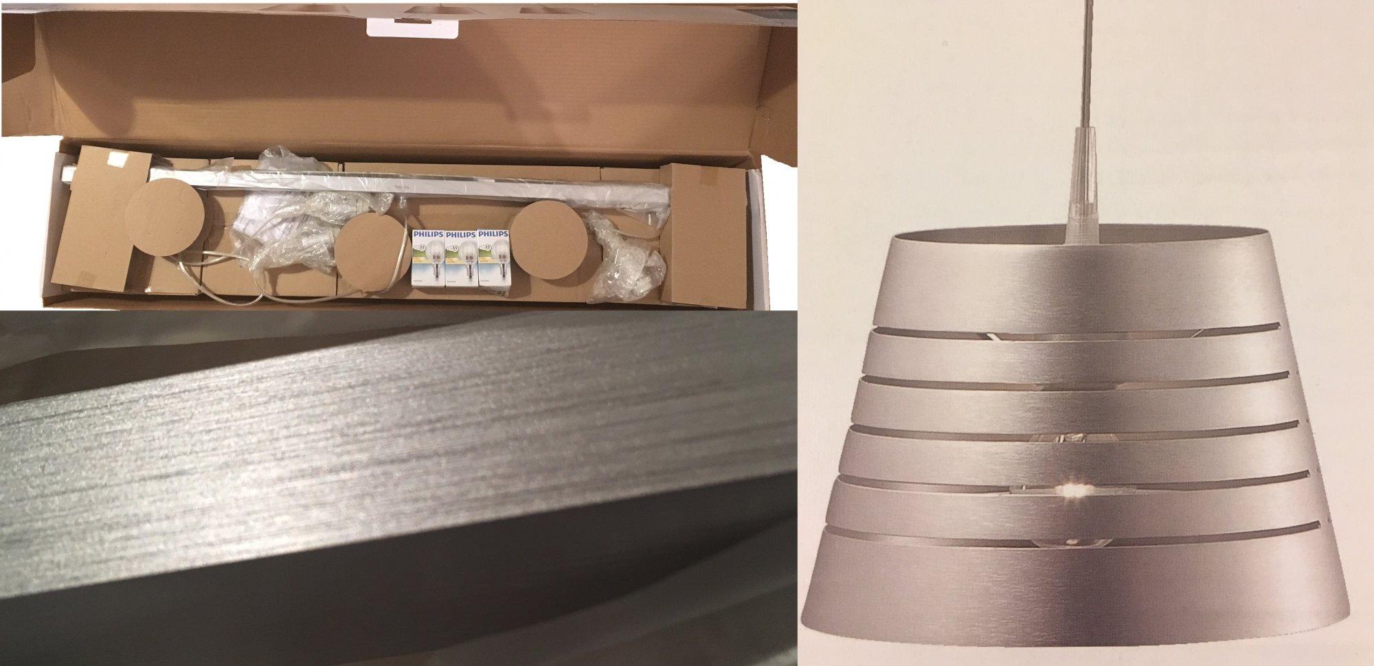 B-WARE Philips Pendelleuchte Humber Deckenlampe Licht Hängelampe 3x42W Alu NEU