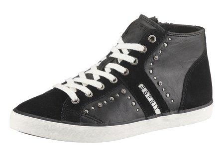 esprit boots gr 37 sneaker damen schuhe hohe turnschuhe hoch schwarz neu. Black Bedroom Furniture Sets. Home Design Ideas